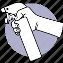 cleaning, hand, holding, spray, sprayer, spraying, detergent