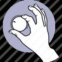 switch, turning, knob, volume, control, hand, adjust icon