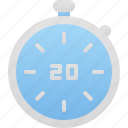 hygiene, seconds, stop, timer icon