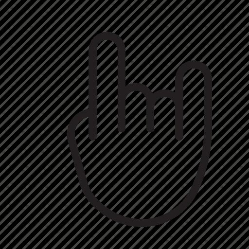 Metal, rock, rock gesture, rock icon, rock sign icon - Download on Iconfinder