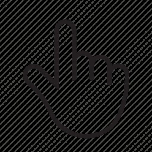 index finger, pointer, pointer gesture, tap, tap gesture, two icon