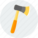 axe, construction, equipment, repair, tool, tools, work icon