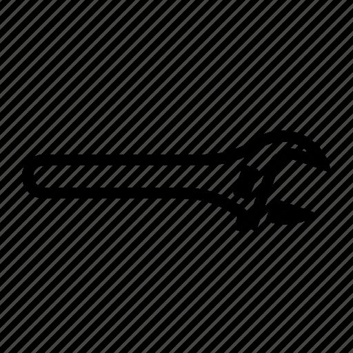 adjustable, adjustable wrench, tool, wrench icon