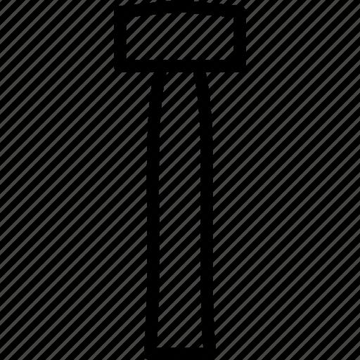 hammer, lump, tools icon