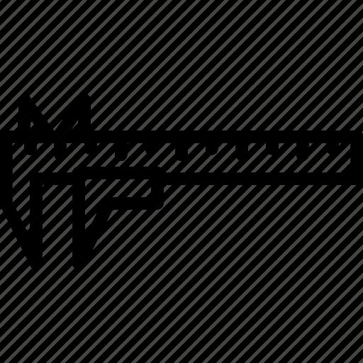 caliper, tools icon