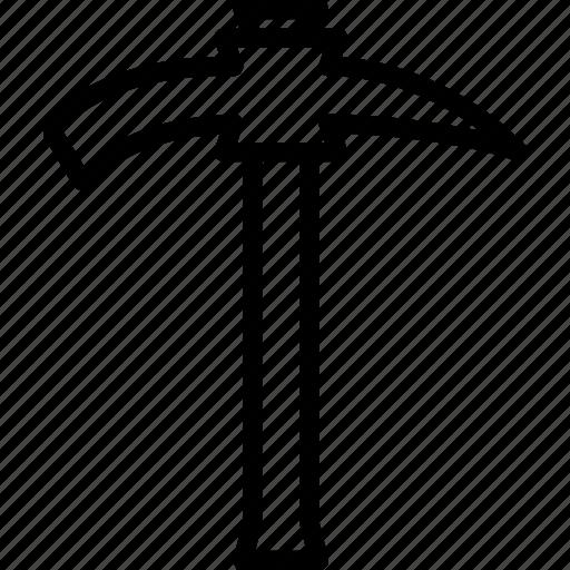 axe, pick, tools icon