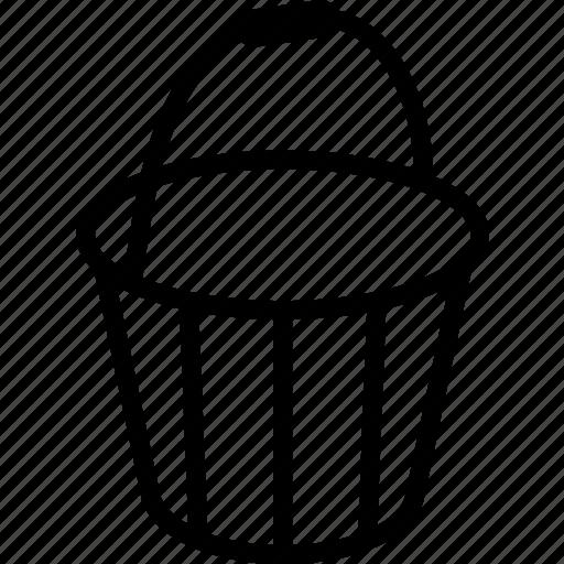 bucket, tools icon