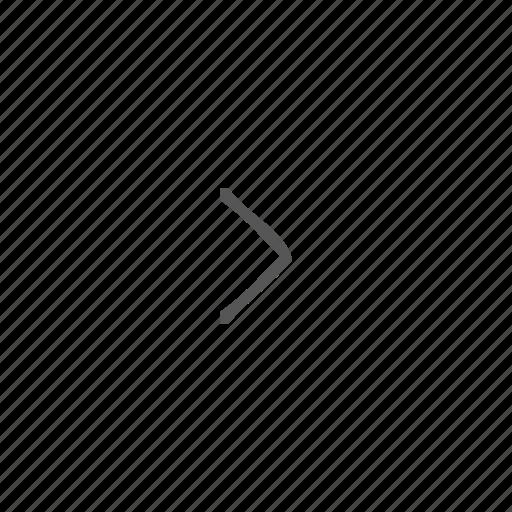 arrow, caret, chevron, forward, next, start icon