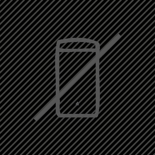 block phone, denied, mobile prohibited, no phone, prohibit phone, switch off icon
