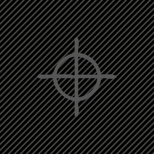 aim, goal, gps, location, mark, sniper icon