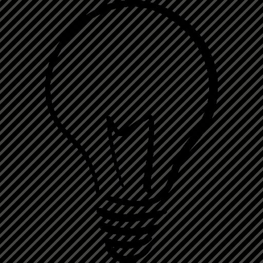 bright, bulb, genius, idea, inspire, light icon