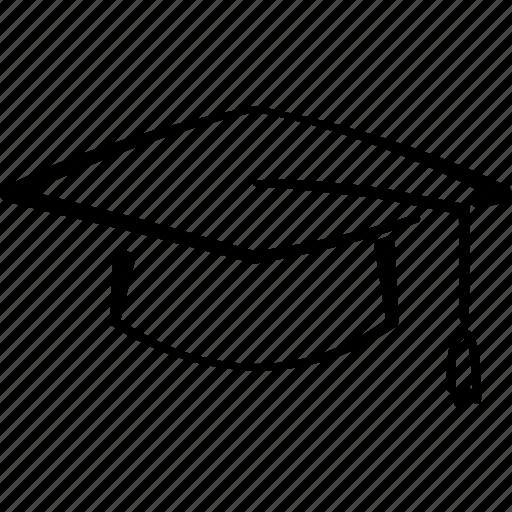 degree, graduate, hat, mortar board, student, university icon