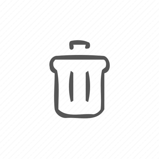 basket, delete, dustbin, garbage, recycle bin, remove, trash icon
