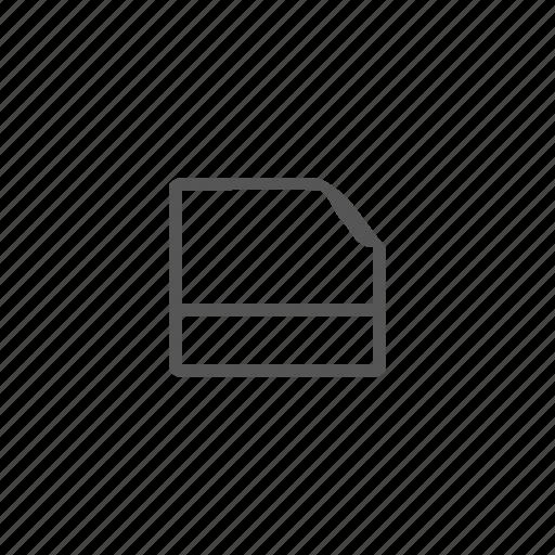 attachment, document, file, folder, memory card, storage icon