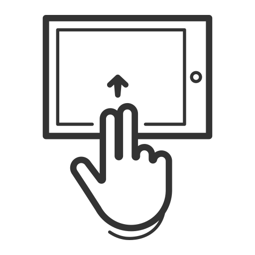 control, device, gesture, handheld, interaction, swipe, tablet icon
