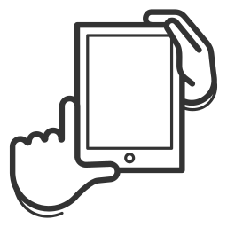 device, gesture, handheld, hold, portrait, screen, tablet icon