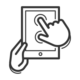 device, gadget, handheld, interaction, tablet, touch control icon