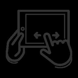 control, device, gadget, gesture, landscape, swipe, touchscreen icon