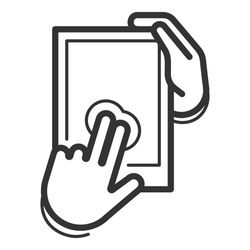 control, device, gadget, gesture, swipe, tablet, touchscreen icon
