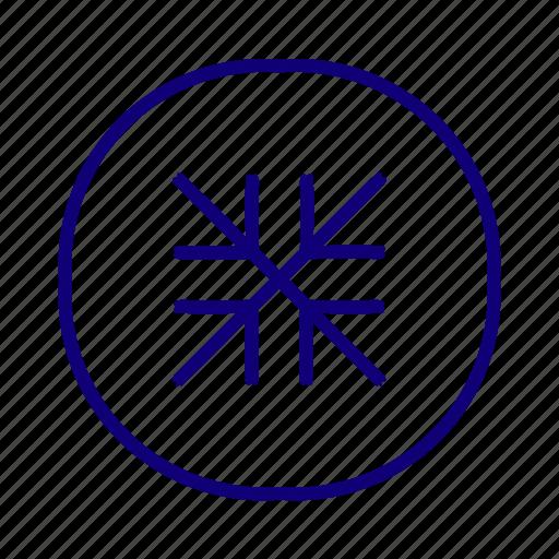 enlarge, expand, maximize, pane, resize, snowflakes icon