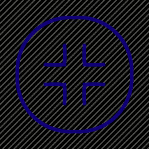 enlarge, expand, maximize, minimize, pane, resize, scale icon