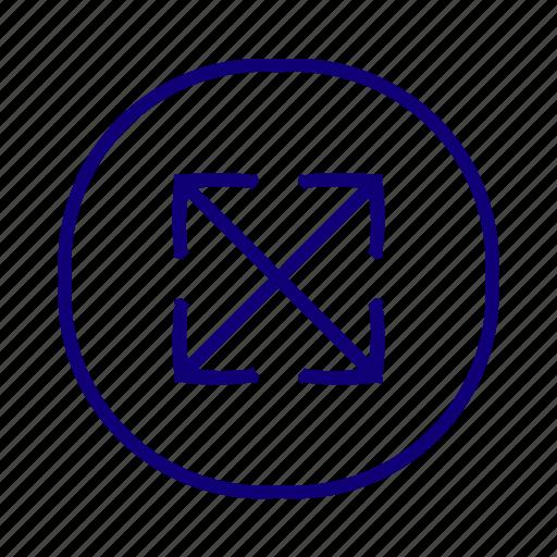 enlarge, expand, maximize, pane, resize, scale icon