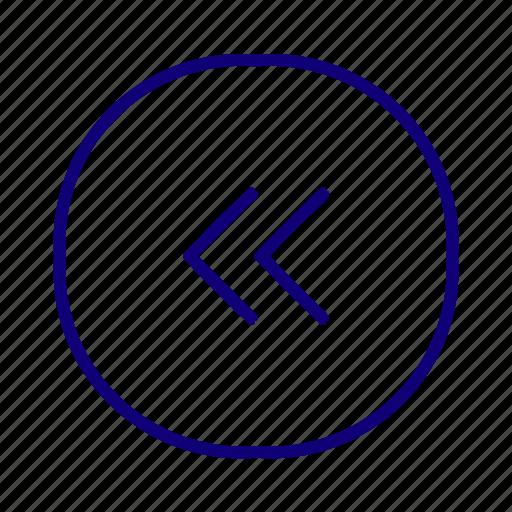 arrow, back, backward, caret, chevron, end, previous icon