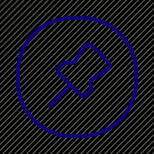 favorite, location marker, pin, stick, tag, unpin icon