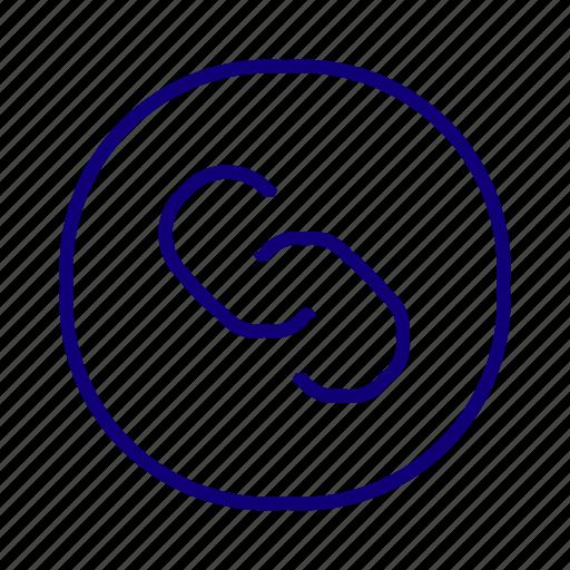 attach file, cliping, file attachment, link, paper clip, url icon