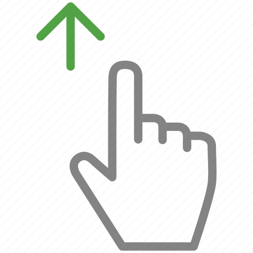 arrow, drag, finger, hand, up icon