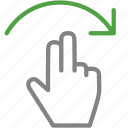 arrow, finger, hand, rotate icon