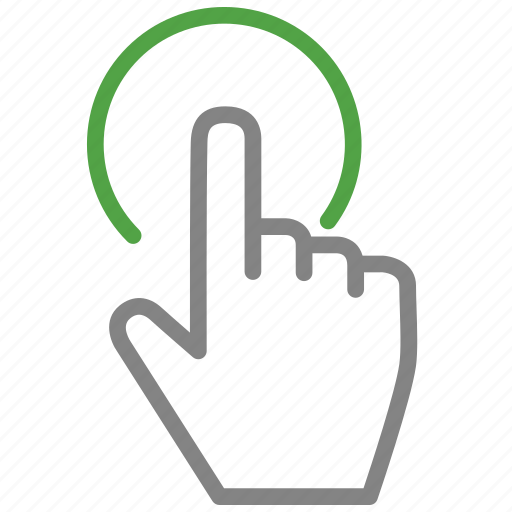 finger, hand, tap, touch icon