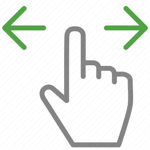 Two, hand, finger, arrow, darg, sides icon
