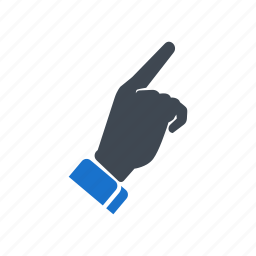 direction, finger, hand, touch icon