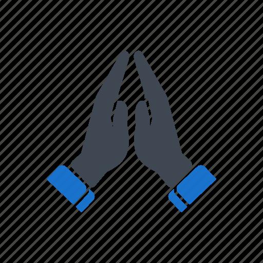 finger, gesture, hand, pray icon