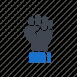 energy, gesture, hand, power icon