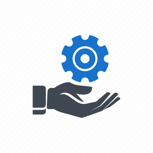 gear, hand, process, seo, setting, solution icon