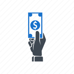 dollar, finance, hand, money, savings icon