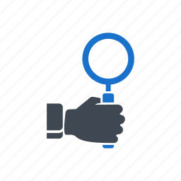 find, hand, magnify, search, zoom icon