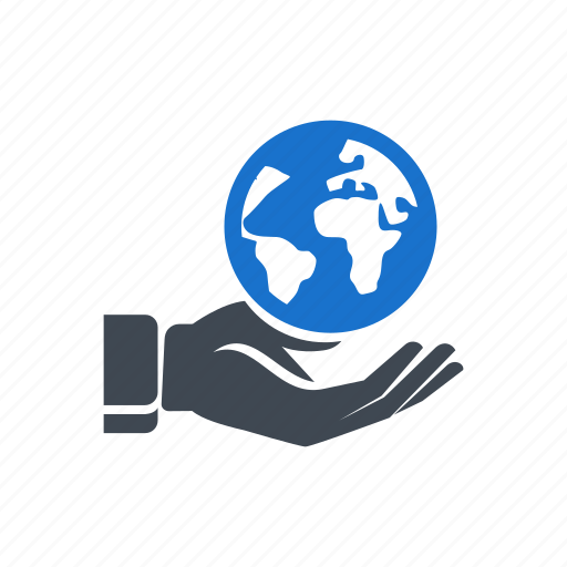 business, eargh, global, hand, planet, save earth icon