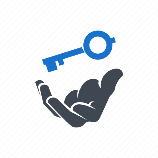 business, hand, key, success, success key icon