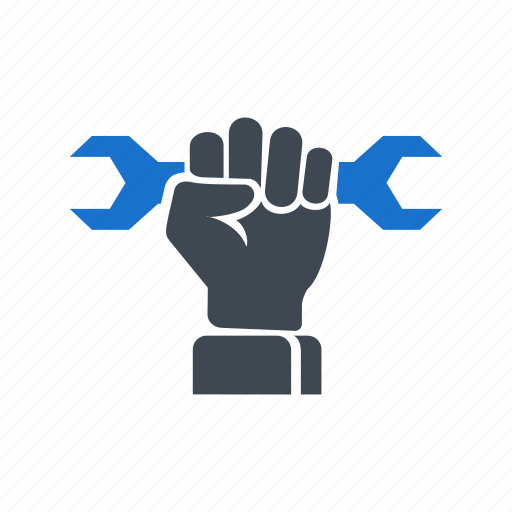 fist, hand, mechanic, professional, repair, tools icon