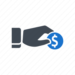 business, coin, dollar, donate, savings icon