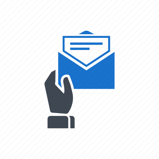 email, hand, letter, mail, read, receive icon