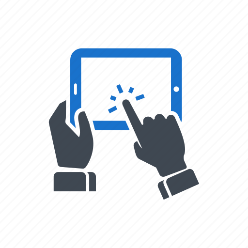 hand, screen, seo, tablet, touch, web icon
