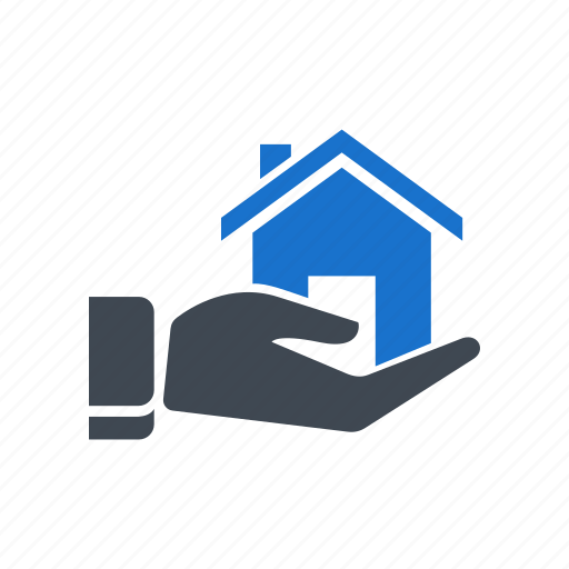 hand, home, home loan, insurance, loan icon