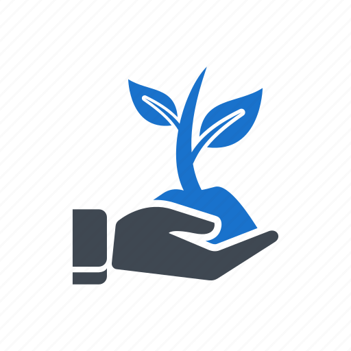 ecology, growth, hand, plant, save tree, tree icon