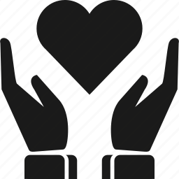 favourite, hand, heart, love, save heart icon