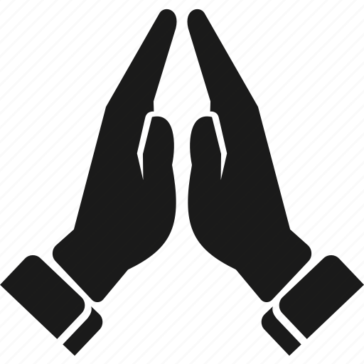 gesture, hand, pray, together icon