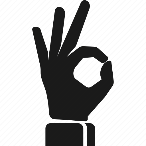 accept, best, finger, gesture, hand, ok icon